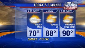 Weather Authority: Hot and humid Wednesday with rising temps