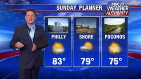 Weather Authority: Mostly sunny Sunday with spotty AM showers