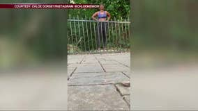 'You need to learn how to jump boo': Georgia woman rescues deer in park
