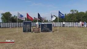 Vietnam Traveling Memorial Wall stops in Pennsville, New Jersey