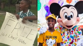 Boy surprised with free Disney trip after donating savings to feed Hurricane Dorian evacuees