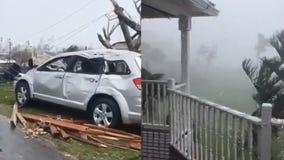 Video shows devastating winds thrashing Bahamas during Hurricane Dorian
