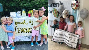 Kids' 'bestie' lemonade stand goes viral and raises $75K for children's hospital research