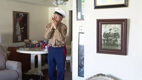 96-year-old World War II veteran impresses with harmonica skills
