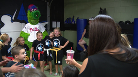 Phillie Phanatic joins South Jersey martial arts center in benefit to help foster kids