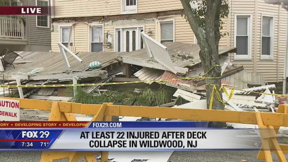 At least 22 injured after decks collapse in Wildwood