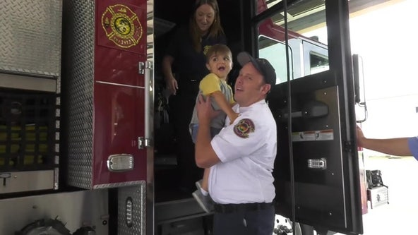 5-year-old boy with rare form of MS becomes Pinellas Park firefighter