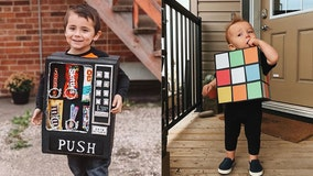 Cardboard boxes and $5 are all this mom needs to create show-stopping Halloween costumes