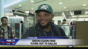 Eagles fans head to Dallas ahead of Sunday night match up against Cowboys
