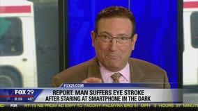 Potential dangers of using phone in the dark