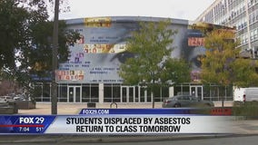 Students displaced by asbestos return to class tomorrow