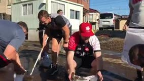 'True values': Canadian rugby team helps clean up after Typhoon Hagibis