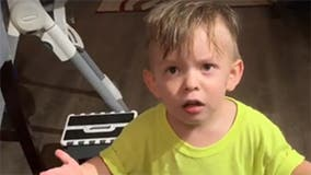 Boy, 2, can't believe mom would leave for work without kissing him goodbye, viral video shows