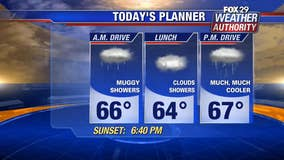 Weather Authority: Thursday's cool down brings spotty showers