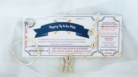 House divided: Yankees fan marries lifelong Atlanta Brave in epic baseball-themed wedding