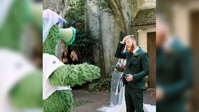 Phillie Phanatic surprises groom during 'incredible' first look at bride