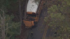 Crews on scene after school bus crashes into tree in Montgomery County