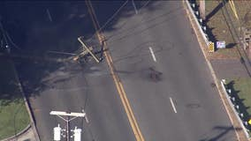 Garbage truck crash in Cherry Hill causes downed power lines, road closure