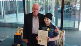 10-year-old boy battling cancer honored by mayor of Allentown