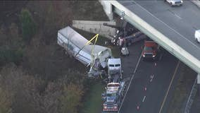 Tractor trailer crash in Delaware closes stretch of northbound Route 1