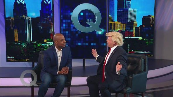 Donald Trump visits The Q