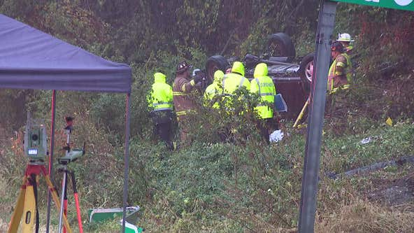 Multi-passenger van overturns, killing 3, injuring 8 in Chester County