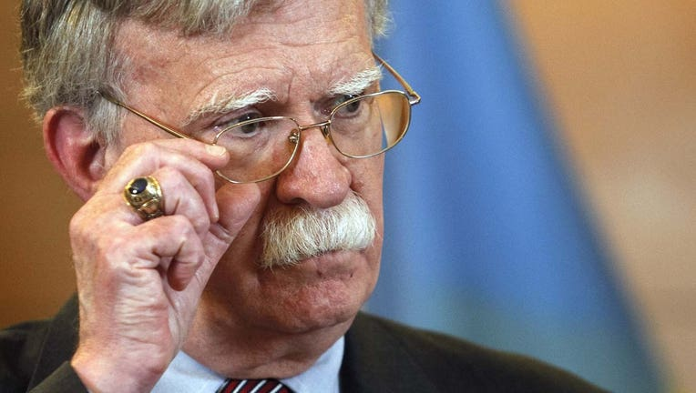 In this file photo, US National Security Advisor John Bolton speaks during his a press-conference in Kiev, Ukraine, on 28 August 2019. (Photo by STR/NurPhoto via Getty Images)