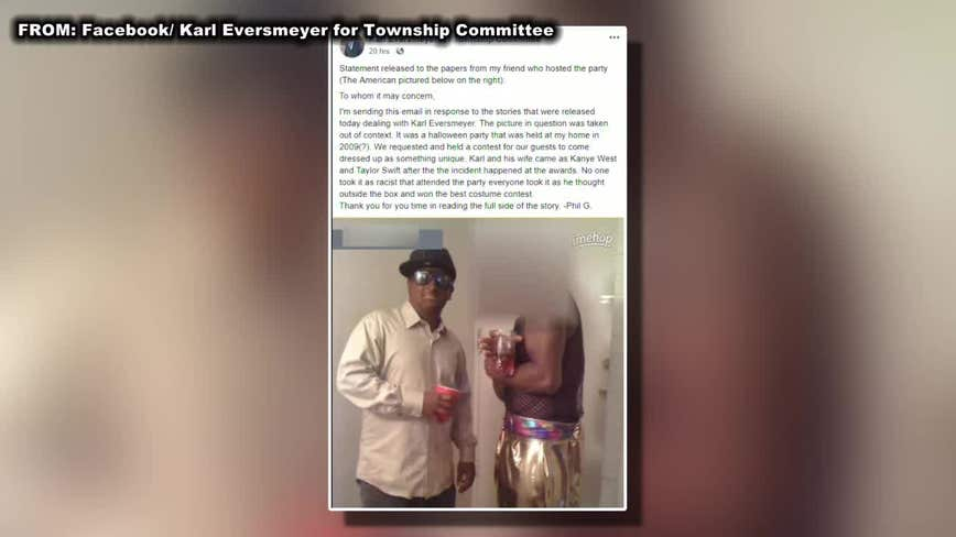 Westampton Township candidate defends himself for appearing in blackface
