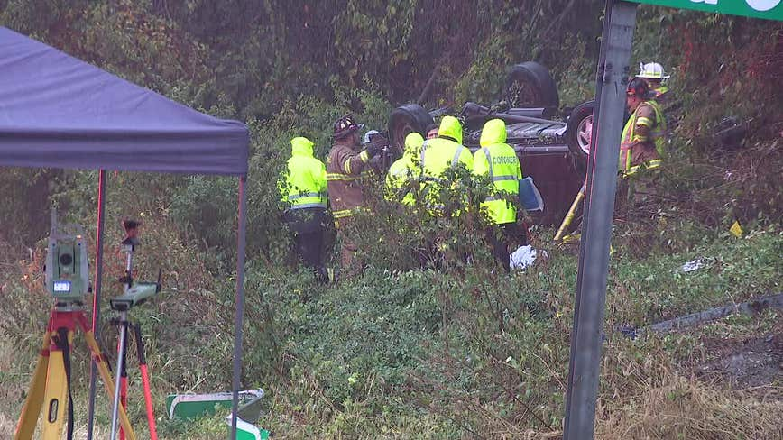 Multi-passenger van overturns, killing 3, injuring 8 in Chester County