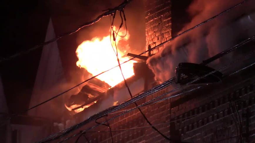 Gas explosion ignites three alarm blaze in Allentown