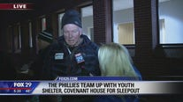 Phillies team up with Covenant House for sleepout to support youth shelter