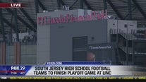 NJ high school football teams to finish playoff game at Linc after shooting