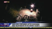 Gas leak contained after sickening first responders in Delaware County