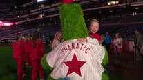 Phillies clubhouse transforms to hold sleepover for pediatric patients