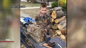 N.J. boy gains valuable lessons in his firewood business
