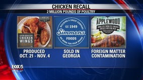 2 million pounds of poultry products recalled