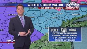Weather Authority: Seasonable Saturday ahead of wintry mix Sunday