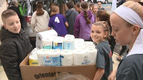 'Operation Helping': Students donate food to Delaware County food bank for Thanksgiving