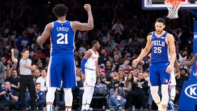 Simmons hits 1st career NBA 3-pointer in 76ers' victory