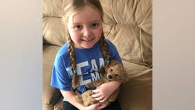 Terminally ill girl who went viral as dog lover dies after battle with brain tumor