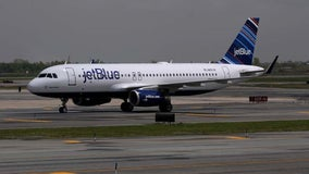 Laser targets JetBlue flight landing at Newark Liberty International Airport