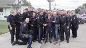 Pennsauken police help welcome home teen battling rare disorder