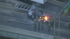 Car fire closes southbound lanes on Roosevelt Boulevard
