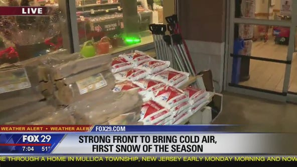 Strong front to bring cold air, first snow of season