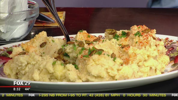 Sides with a Twist: Hummus mashed potatoes