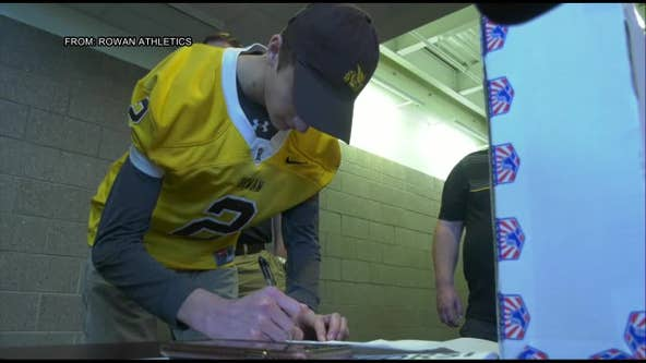 Local teen with Cystic fibrosis signs letter of intent with Rowan University football team