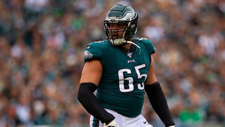 Lane Johnson of the Philadelphia Eagles