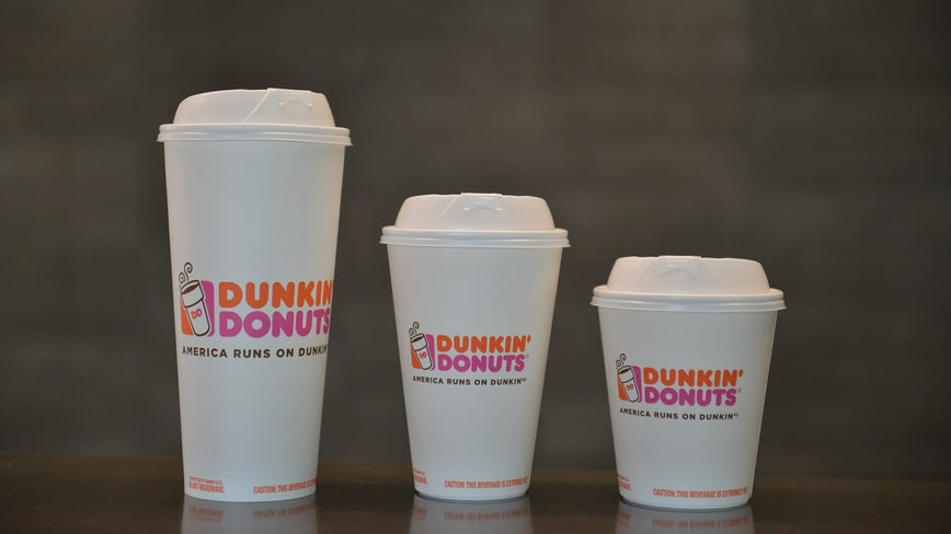 Dunkin' bans the 'double-cup,' swaps foam for paper