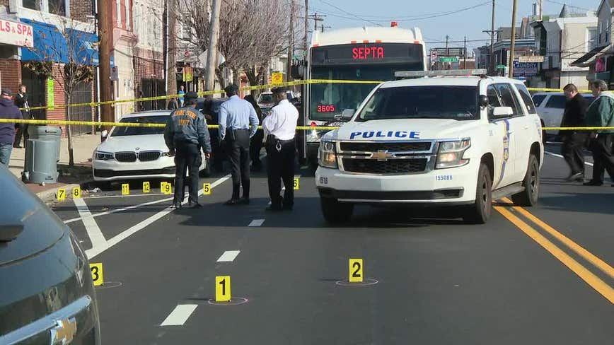Suspect critical after exchanging gunfire with police outside SEPTA bus