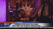 Fire engulfs several row homes in North Philadelphia